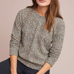 Anthropologie T.La Leopard Sweatshirt XS